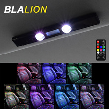 Car Atmosphere Lights 5 Modes USB Rechargeable Ambient Lamp with Remote Multi color Portable Decorative Light for Auto Home