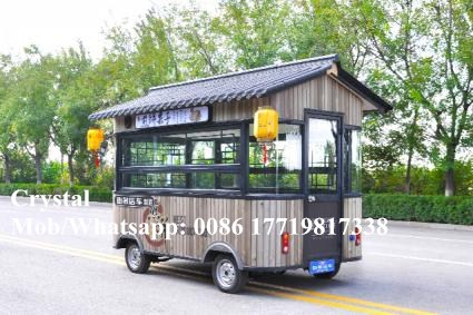 340cm Length Electric Mobile Food Cart Electric Mobile Food Cart Street Food Cart Shipping By Sea To Seaport Or EXW Price