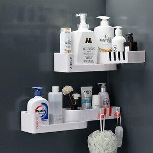 Image 3 - Bad Regal Ecke Regale Shampoo Halter Küche Lagerung Rack Chaos Dusche Organizer Wand Halter Raum Schoner Haushalts Artikel