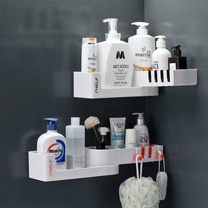 Image 3 - Bathroom Shelf Corner Shelves Shampoo Holder Kitchen Storage Rack Mess Shower Organizer Wall Holder Space Saver Household Items