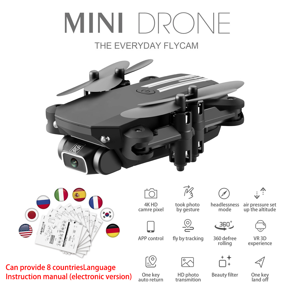 2020 NEW drone 4k HD wide angle camera wifi fpv drone height keeping drone with camera mini drone video live rc quadcopter toys