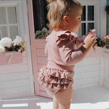 Princess Baby Girls Romper Dress Fly Sleeves Newborn Kid 3 Pcs Set Cotton Romepr PP Pants Hair Band Toddler Girl Fall Clothes
