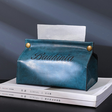 Ins Nordic Leather Towel Napkin Tissue Box Portable Vintage Tissue Box Tissue Holder Case for Office Home Decoration