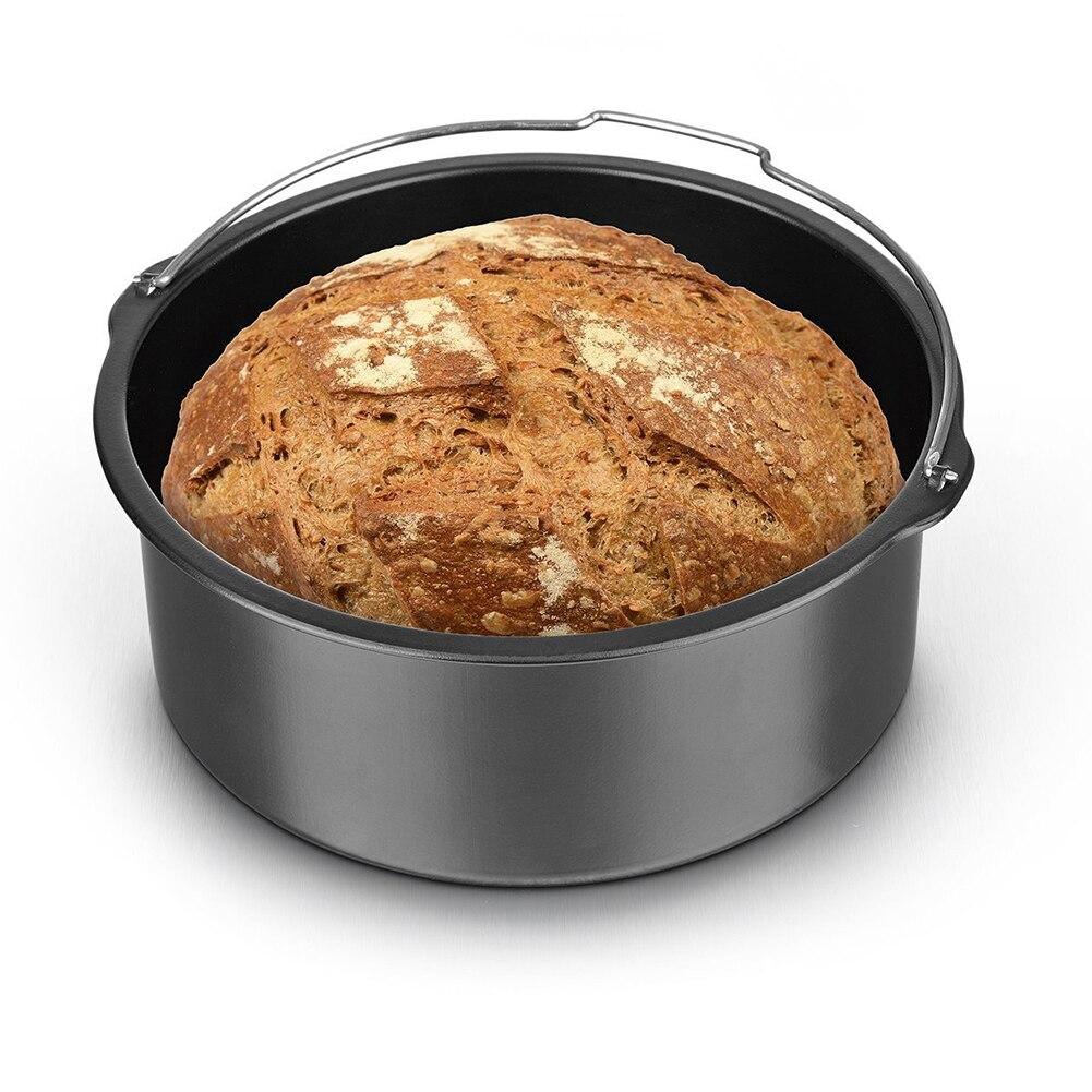 7 шт./компл. 3,5 к 5.8QT дома аэрофритюрница для приготовления блюд без Аксессуары Универсальный сковорода для пиццы из корзина выпечки корзина ...