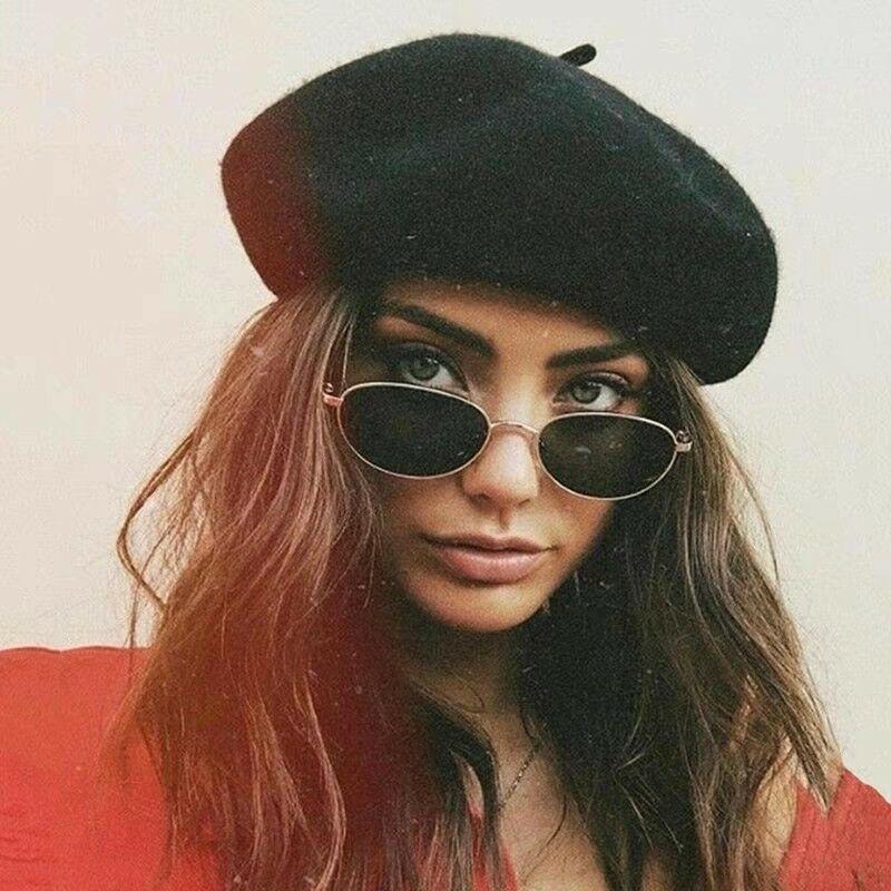 >Winter Warm faux <font><b>Wool</b></font> Beret Women Girls French Artist Beanie Hat <font><b>Cap</b></font> red black purple beige orange Kawaii Flat <font><b>Top</b></font> <font><b>caps</b></font> warmers