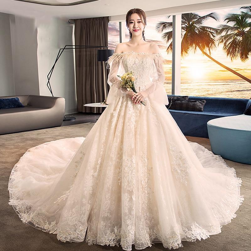 2020 Celebrity Dresses Hepburn Wedding Dress 2020 New Bride Small Korean Star Forest Super Fairy Dream Long Tail