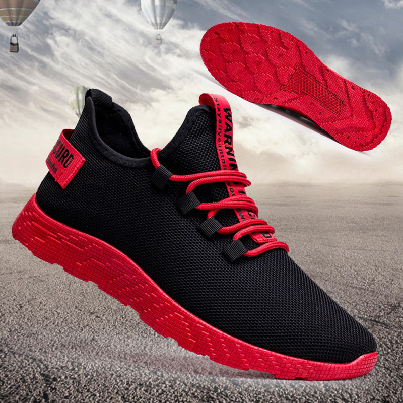 Men Sneakers Sports Trainning Flat Casual Shoes Mesh Light Breathable Walking Shoes 39-44 Male Sports Men Sneakers Running