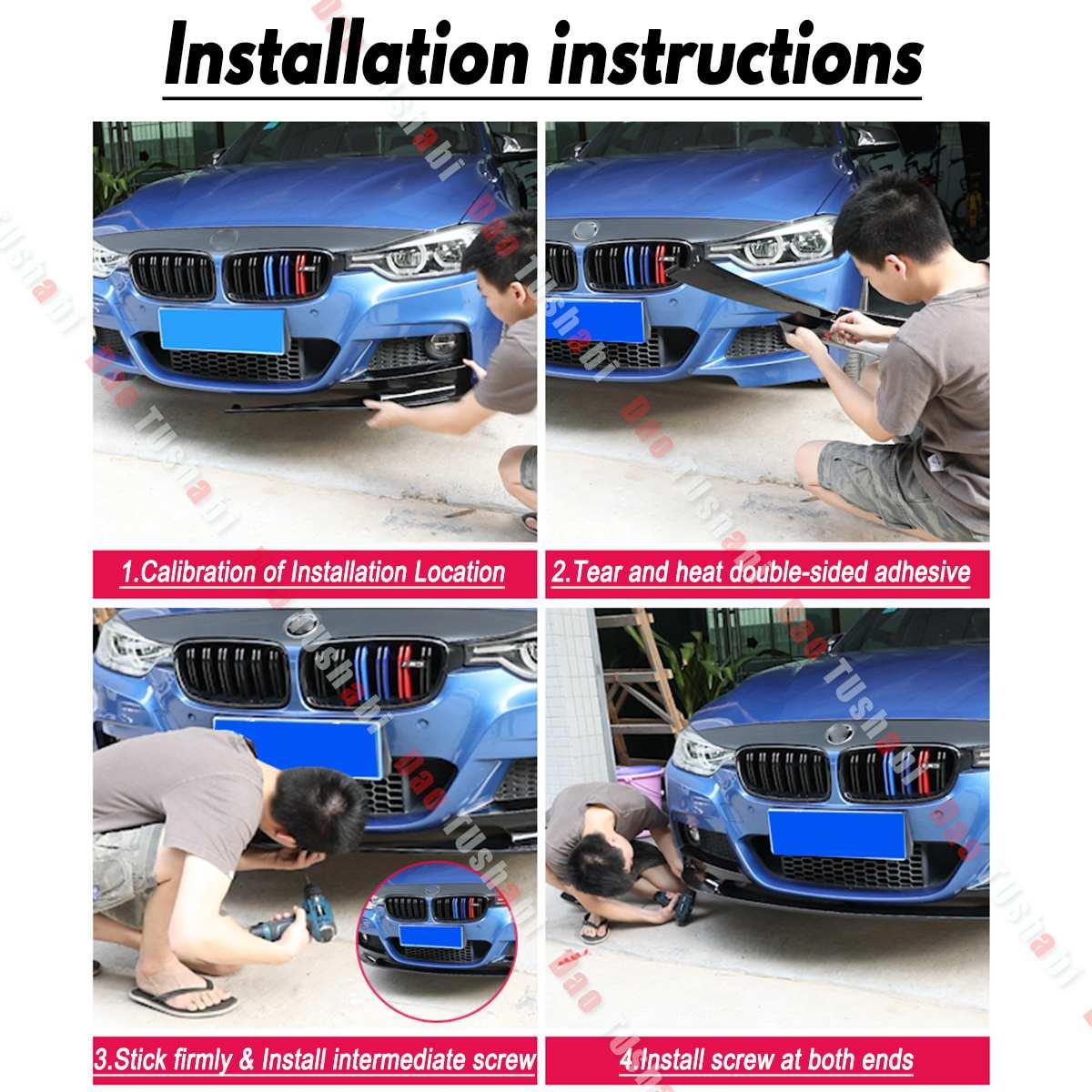 3 цвета передний бампер крышка Губы передний бампер поверхность только для BMW F30 3 серии M Стиль 2012 2018 спортивная версия - 6