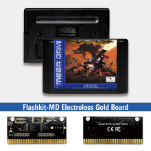Red Zone   EUR Label Flashkit MD Electroless Gold PCB Card for Sega Genesis Megadrive Video Game Console