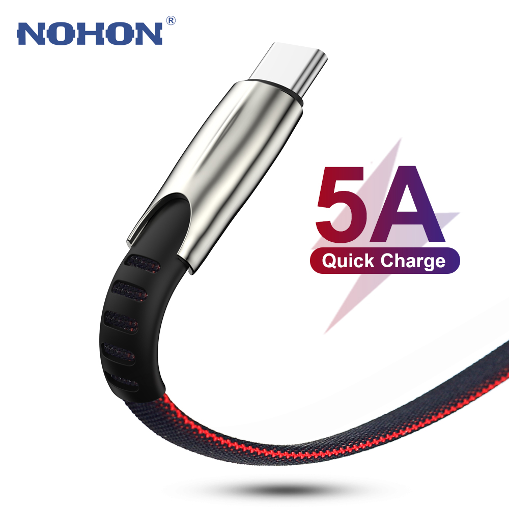 3M USB C Data Cable for Xiaomi Mi 8 9 9T Redmi K20 Note 7 5A Fast USB Type C Cable for Samsung S8 S9 S10 Huawei P30 Super Charge(China)