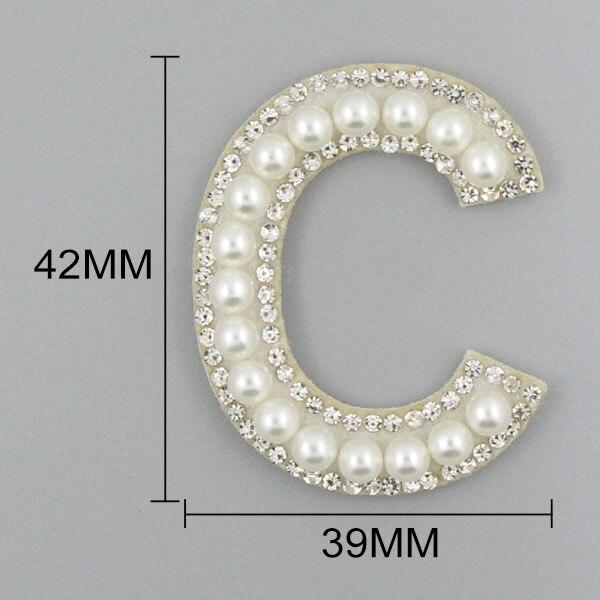 Perla Artesanía Pegatinas Etiquetas-Alphabet-números Perla pegar en letras números de perla