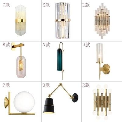 Итальянский дизайн, настенный светильник, черный/золотой прикроватный светильник для спальни, зеркальный светильник, украшение для дома, н