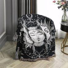 Casual Blankets Carpet Decoration Sun Moon Carpet Sofa Leisure Carpet Original Witchy Tapestry Sofa Mat Throw Blanket