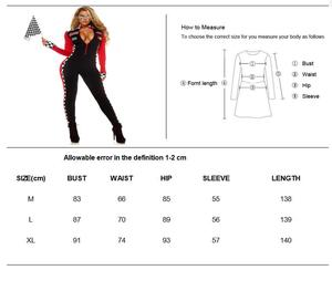 Image 4 - Women Sexy Race Car Driver Costume Racing Girl Jumpsuit Car Game Long Sleeves Uniform