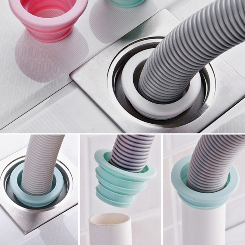 Drain Pipe Seal Hose Silicone Plug Washer Drain Tube Seal Plug Ring For Bathroom Kitchen Cleaning Tool/silicone Seal Plug Pest