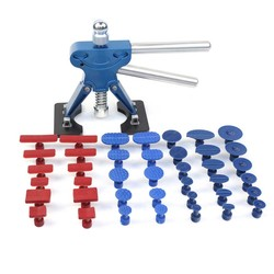 41Pcs Paintless Dent Repair Tools Kit Blue Dent Lifter And Glue Tabs Auto Body Dent Removal Tools