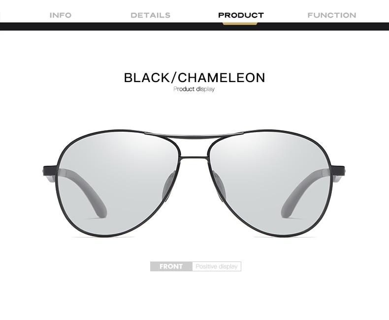 H7438a50c98374ae0a4d00f18b4ba53cfT 2020 Aviation Driving Photo chromic Sunglasses Men Polarized Eyewear Glasses Women Day Night Vision