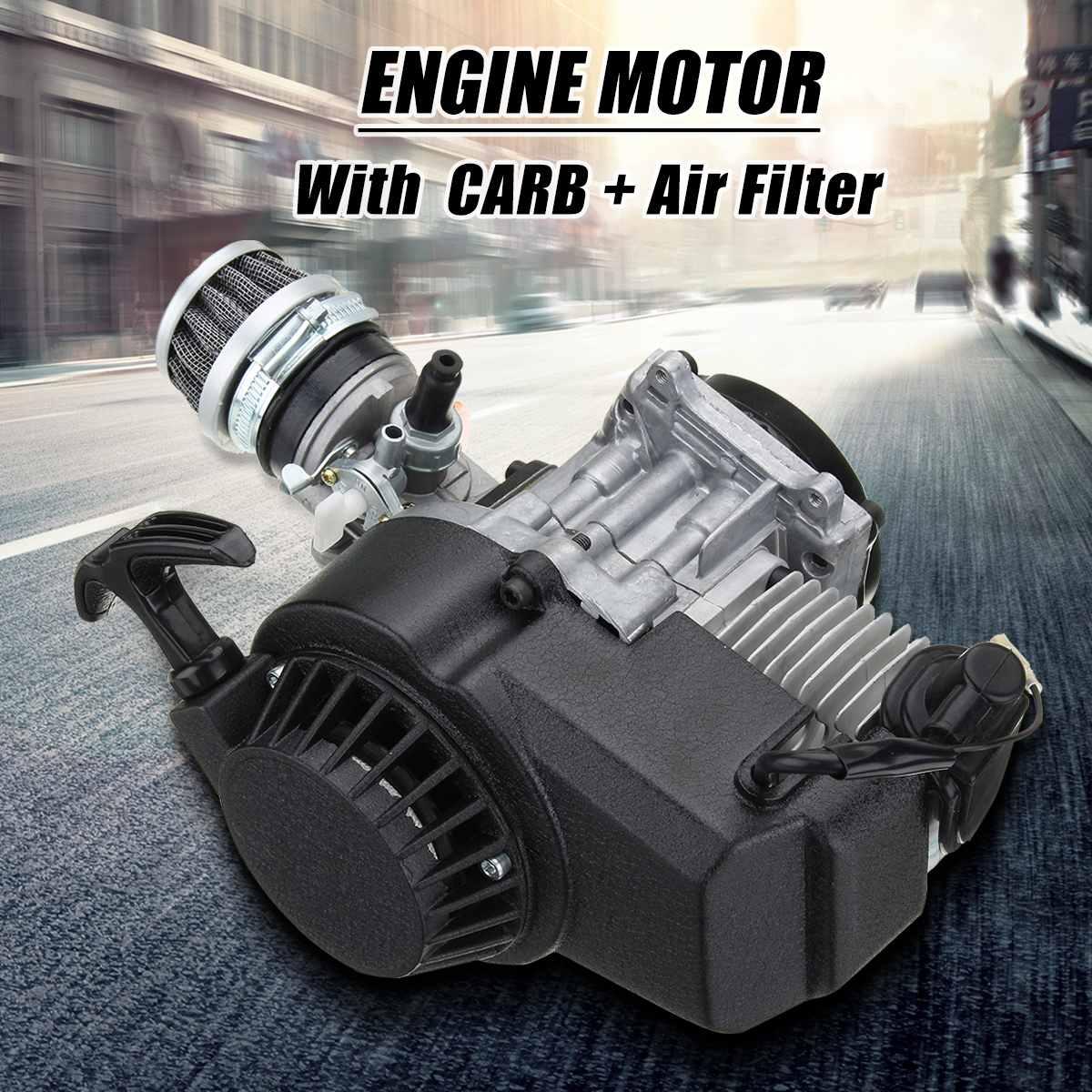 49cc 2 тактный мотоцикл Потяните старт двигателя трансмиссия двигателя Воздушный фильтр мини карманный Dirt Pit Bike ATV Quad велосипед/детскй 4-колесн...