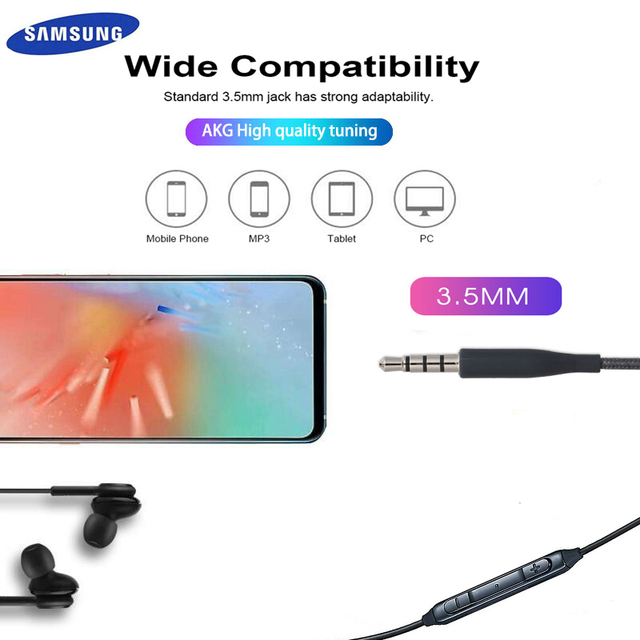 Samsung AKG Earphones EO IG955 3.5mm In-ear Wired Mic Volume Control Headset for Galaxy S10 S9 S8 S7 S6 huawei xiaomi Smartphone 3
