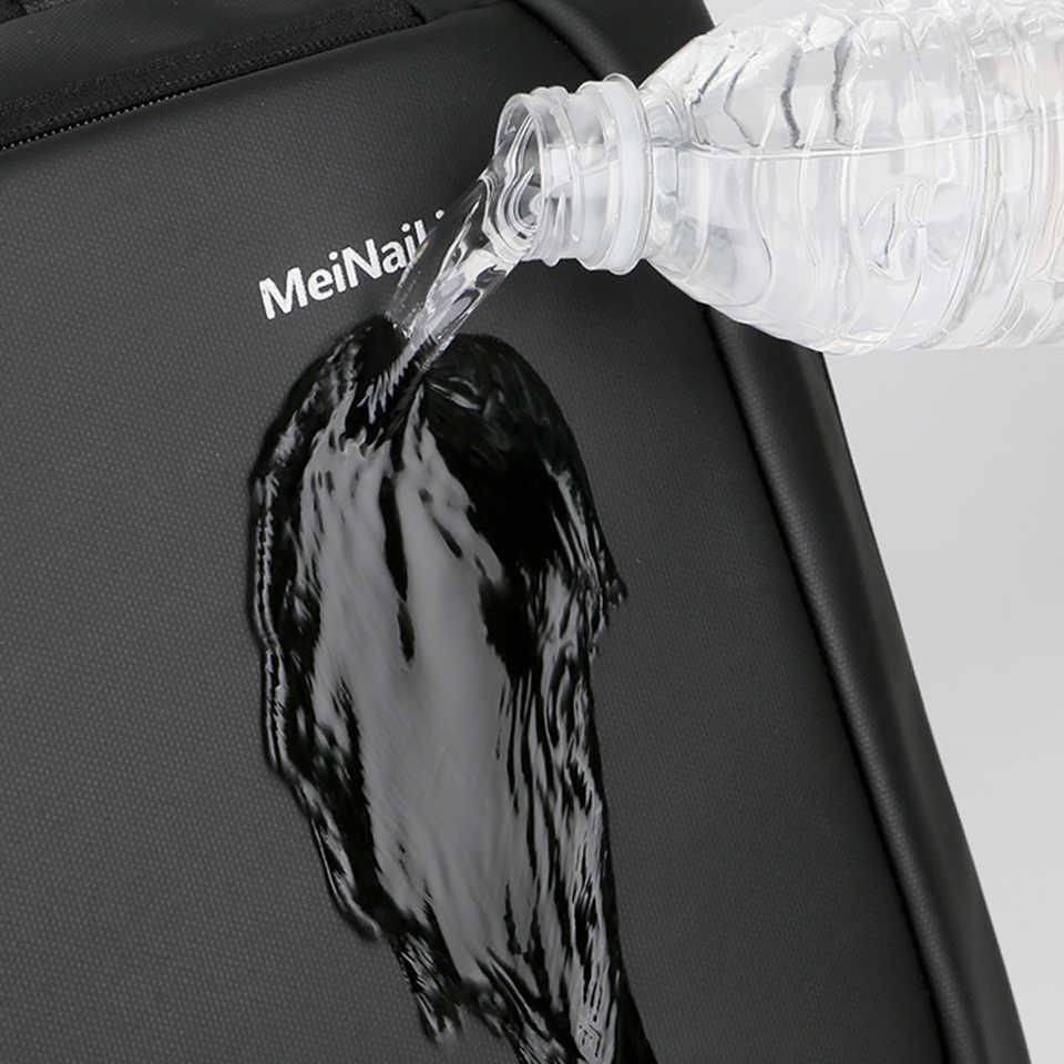 SHUJIN dizüstü sırt çantası erkek erkek sırt çantaları iş not defteri Mochila su geçirmez geri paketi USB şarj çantaları seyahat sırt çantası 2020
