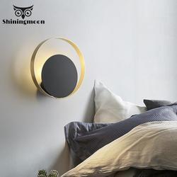 Nowoczesna ściana małe ozdoby metalowe kinkiet 220V LED sztuka nordycka światło lustrzane salon Patio kinkiet kinkiet lampa ścienna