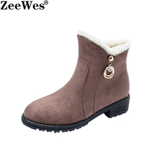 2019Women Snow Boots Female Waterproof Winter Shoes Platform Keep Warm Ankle Winter Boots With Thick Fur Heels Botas Women Boots new fashion bow snow boots women winter thick warm female ankle boots wild middle tube platform cotton shoes botas mujer 2018