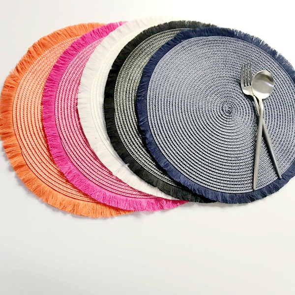 1piece Round Table Placemat Pp Weave, Round Table Mats