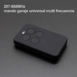 باب المرآب جهاز التحكم عن بعد 287-868MHz متعدد التردد اللاسلكي التلقائي 4 أزرار متعددة الوظائف متعددة العلامات التجارية الارسال