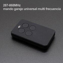 Control remoto para puerta de garaje 287-868MHz multifrecuencia inalámbrico automático 4 botones Multi-funcional multi-brand transmisor