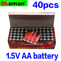 40pcs AA Battery 1.5V LR6 AM3 E91 MN1500 Alkaline Dry Batteries For Electric Toy Flashlight Clock Mouse