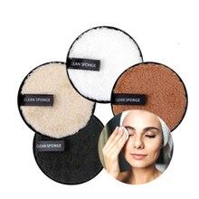 3 шт средство для снятия макияжа с накладками из микрофибры многоразовый уход за кожей лица Полотенца макияж салфетки ткань моющиеся Ватные...