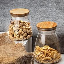Зерновая канистра, пищевой герметичный контейнер для хранения, прозрачная пластиковая стеклянная банка, бутылка для рассыпчатого чая, кофе, зерен, сахарная соль 1100/700 мл