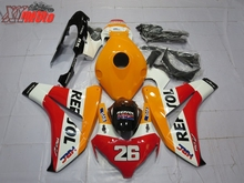 цена на Motorcycle Fairing Kit For Honda CBR1000RR 2008-2011 Injection ABS Plastic Fairings CBR 1000RR 08-11 Gloss Red Repsol Bodyworks