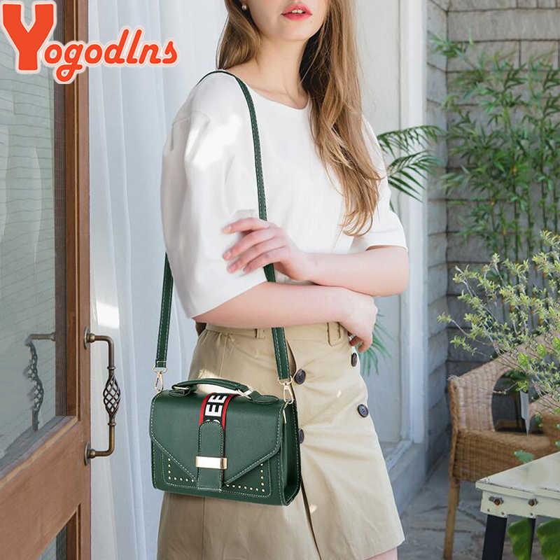 Yogodlns النساء أكياس حقيبة يد فاخرة السيدات حقيبة ساع غطاء برشام حقيبة الفتيات الأزياء حقيبة كتف السيدات بو حقائب يد جلدية