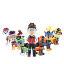 7 pieces / set of paw patrol dog toy puppy cartoon character Patrulla Canina action model Ryder childrens gift