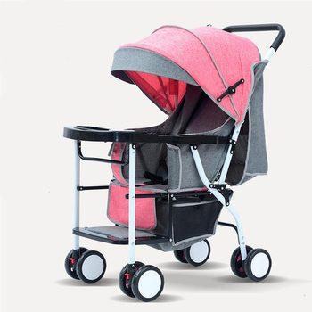 цена на Dining chair baby stroller lightweight folding four seasons universal sitting baby 01-3 year old child four wheel stroller