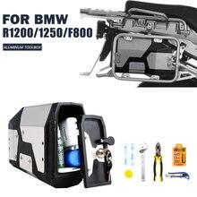Nowy przyjazd! Skrzynka narzędziowa dla BMW r1250gs r1200gs lc i adv przygoda 2002 2008 2018 dla BMW r 1200 gs lewy wspornik boczny aluminium Box