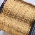 Латунная металлическая проволока 24 к золотистого цвета, 5 метров, 0,3/0,4/0,5/0,6/0,7/0,8 мм