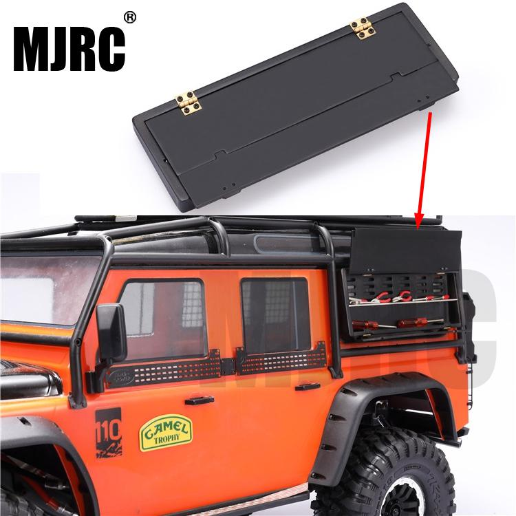 MJRC Suitable For 1/10 Simulation Climbing Car TRAXXAS TRX4 Defender D90 RC4WD D110 SCX10 AXIAL Tool Box Toolbox Can Be Opened