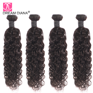Image 5 - DreamDiana Brazilian Water Wave 1/3 Bundles L Remy Weave Hair Piece Natural Black Color 100% Human Hair Extensions Free Shipping