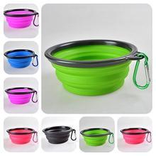 Нетоксичная TINGHAO Складная миска для кормления собак и домашних животных портативная силиконовая миска
