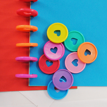 200pcs 35mm Colorful Notebook Binding Discs Mushroom Planner Binder Rings Disc Binding 360 Degree Foldable Office Supplies
