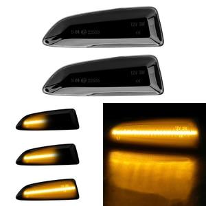 Image 1 - 2pcs Flowing Turn Signal Light Dynamic LED Side Marker Lights For Opel Vauxhall Astra J K Crossland X Grandland Insignia B