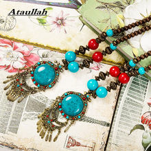 Ataullah Handmade Colorful Beads Boho Ethnic Women Necklace Charms Bohemia Chokers Necklaces Parent-child Vintage Jewelry NW077(China)