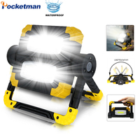 Led Portable Spotlight Waterproof Searchlight Led Work Light 150W Led Work Light use 4*AA Battery For Repairing Camping