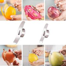 2 Pcs 304 Stainless Steel Orange Pembuka Cincin Slicer Cutter Portabel Jeruk Grapefruit Alat Pengupas(China)
