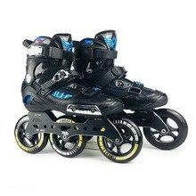 الحرب الذئب سرعة حذاء تزلج بعجلات شبه solft عالية الكاحل الأسطوانة حذاء مضمنة Patine 3*110 مللي متر الهيكل ل سباق الشارع التزلج الحرة SH59