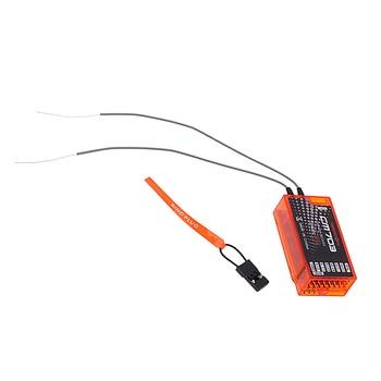 CM703 7 kanał 2.4Ghz RX odbiornik z dostępem do kanałów telewizji satelitarnej PPM i wyjście PWM kompatybilny z DSM2 i DSMX, pomarańczowy
