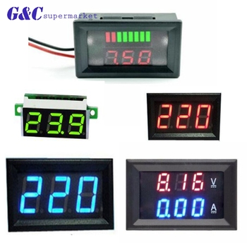0.28 / 0.56 inch mini digital voltmeter ammeter board ampere voltammeter tester detector electricity meter dual LED display car three phase digital voltmeter ammeter digital ampere panel meter 96 96 led display combined meter
