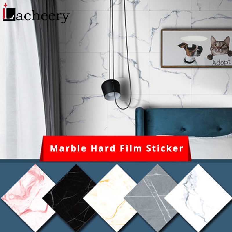 Marble Flooring Tiles Stickers Bathroom Kitchen Non-slip Waterproof Vinyl Self-adhesive Wallpaper Floor Wall Decor Contact Paper